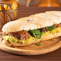Sándwich Vegan Mechada