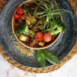 Khao Pad - Salteado de Arroz, Res y Verduras