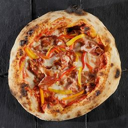 Pizza Coppa y Morrones Asados