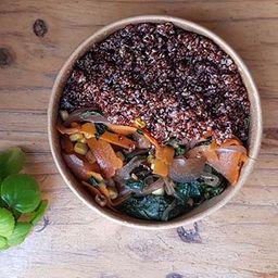Quinoa con Guiso Espinaca