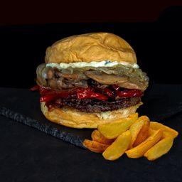 Combo Hamburguesa Vegetariana Blue