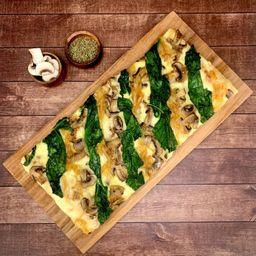 Pizza Mediana Funghi Espinaca