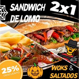 Sándwich Lomo Saltado