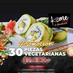 Promo 30 Piezas Vegetarianas Roll