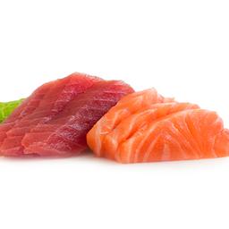 Sashimi de Atún Rojo y Salmón (8 Cortes)