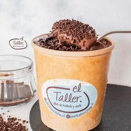 Helado Trufa Erizo de Chocolate