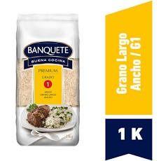 Arroz Grado 1 Premium Banquete Grano Largo y Ancho 1 kg