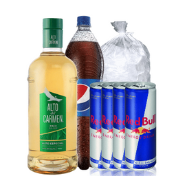 Combo 2: Pisco Adc 35° Red Bull