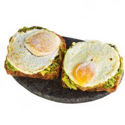 Tostadas con Palta y Huevo