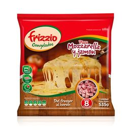 Pizza Familiar Jamón y Mozzarella