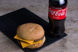 Combo Doble Hamburguesa Queso +Bebida Coca Cola Var 591cc