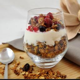 Yogur Griego con Frutilla + Granola