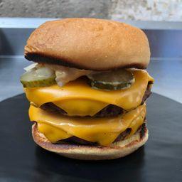 Cheeseburger doble veggie