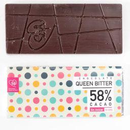 Queen Bitter 58% Cacao sin Azúcar