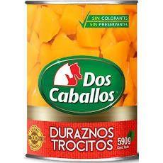 Durazno Trozos Dos Caballos 590 gr