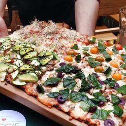 Pizza Familiar 30x40 - 4 Sabores Vegana