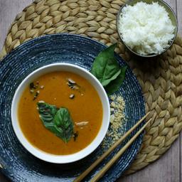 Curry Panang Camarón Acompañado de Arroz Jazmin