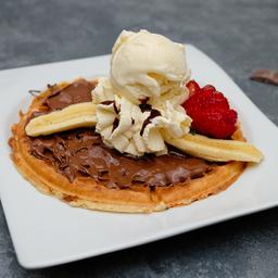 Waffle NUTELLA® y Plátano