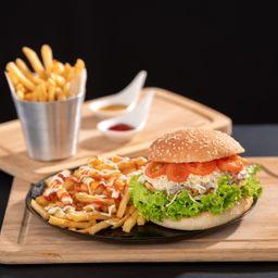 Hamburguesa Vegetariana+ Papas Fritas