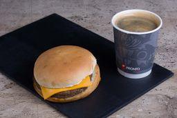 Combo Hamburguesa Queso +Café