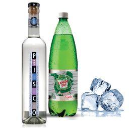 Promo: Pisco ABA + Bebida 1,5L + Hielo 1k