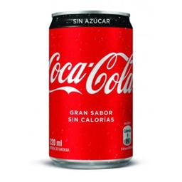 Coca Cola Sin Azúcar Lata 220 ml