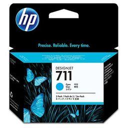 Pack de ahorro HP 711 Cyan x3