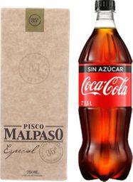 Promo Pisco Mal Paso + Bebida 1,5L + Hielo 1k