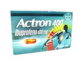 Actron 400 Gr X 10 Capssulas Blandas Ibuprofeno