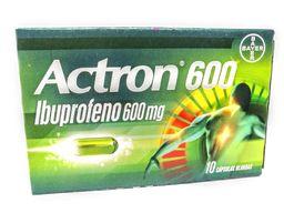 Actron 600 Mg X 10 Capsulas Blandas