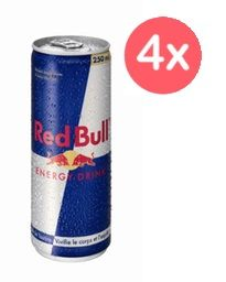 4x Red Bull 250ml Variedades
