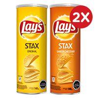 2x Lays Stax variedades