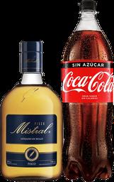 Promo Pisco Mistral 35° 750cc + Bebida 1,5L