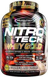 Proteina Gold 100% Nitrotech 5,5 Lb Chocolate Cookies