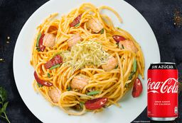 Spaguetti Pollo Verduras