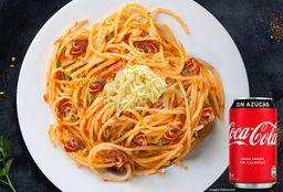 Spaguetti Pollo a la Barbacoa