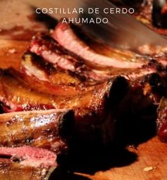 Costillar Ahumado (100% cerdo artesanal) Aprox 1.5 Kg