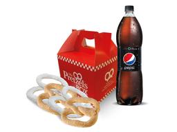 Box 4 Pretzel y bebida