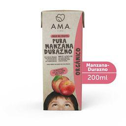 Jugo de manzana y durazno orgánico 200 cc