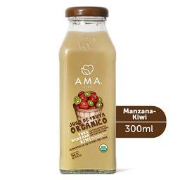 Jugo de manzana y kiwi orgánico  300 cc