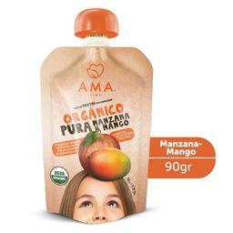 Puré de manzana y mango orgánico  90grs