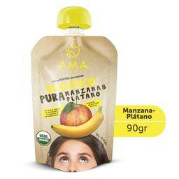 Puré de manzana y plátano orgánico  90grs