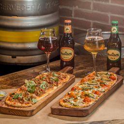 Pizza Hangaroa + Pizza de la huerta +1Maibock 330cc +1Pils 330cc