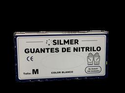 Guantes Nitrilo Talla M, Blanco x 100 un Silmer
