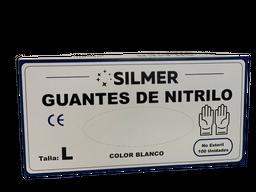 Guantes Nitrilo Talla L, Blanco x 100 un Silmer