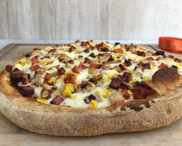 Pizza pollo Bechamel