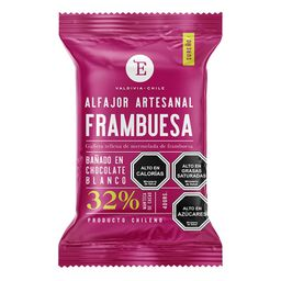 Alfajor frambuesa chocolate blanco 40 gr.
