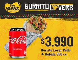 Burrito Lover Pollo más Bebida
