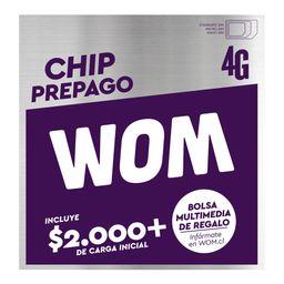 SIM Prepago WOM 4G