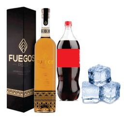 Promo Pisco Fuegos + Bebida 1,5L + Hielo 1k